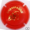 Champagne capsule C18.ff Opalis orange et or