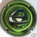 Champagne capsule 987.h Puzzle vert