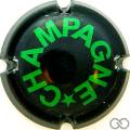 Champagne capsule 397.j Noir et vert
