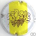Champagne capsule 713 Blanc, barre jaune