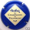 Champagne capsule 665.b Bleu, entrefilet blanc