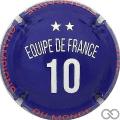 Champagne capsule 1027.d Equipe de France 10