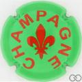 Champagne capsule A91.d Vert et bordeaux