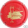 Champagne capsule A38 Jéroboam rouge, écriture or
