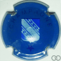Champagne capsule 453.c Bleu et bleu foncé