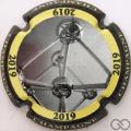 Champagne capsule 976.h 2019, contour noir