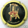 Champagne capsule 727.r Noir, contour jaune Lettres épaisses