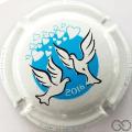 Champagne capsule 863.f Jéroboam, blanc et bleu