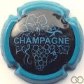Champagne capsule 780.f Noir, contour bleu