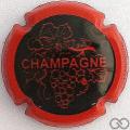 Champagne capsule 780.g Noir, contour rouge