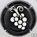 Champagne capsule 881.da Soft: noir brillant et argent. Grappe