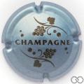 Champagne capsule 766 Argent-bleuté