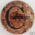 Champagne capsule 981.c Marron, crème et noir