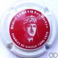 Champagne capsule A2.c Rouge, contour blanc