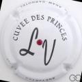 Champagne capsule 12.b Cuvée des Princes (LV) avec strass rouge