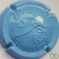 Champagne capsule 31.g Bleu ciel et noir