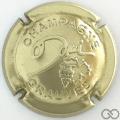 Champagne capsule 22 Or pâle