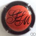 Champagne capsule 23.b Rouge, contour noir