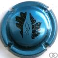 Champagne capsule A2.a Bleu métallisé et noir