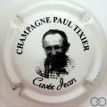 Champagne capsule 18 Crème pâle et noir