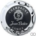 Champagne capsule 12 Noir, contour blanc