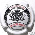 Champagne capsule 4 Blanc, écusson noir