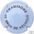 Champagne capsule 24 Bleu pâle et noir