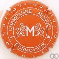 Champagne capsule 6 Orange et blanc