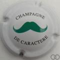 Champagne capsule A3 Moustache vert foncé