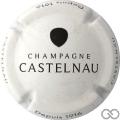 Champagne capsule 11 Blanc, goutte noire