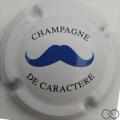 Champagne capsule 15.c Moustache bleu
