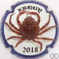 Champagne capsule 22 Erquy 2018, contour bleu
