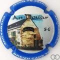 Champagne capsule A10 An Douar, contour bleu