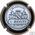 Champagne capsule 1 Noir, fond blanc