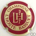 Champagne capsule 11 Crème et  bordeaux, contour crème