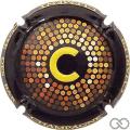 Champagne capsule 29.a Contour noir, C estampée