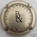 Champagne capsule 1 Or pâle et noir
