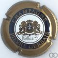 Champagne capsule 2 Cercle noir, contour clair