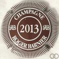Champagne capsule 17.aa Marron et blanc 2013