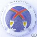 Champagne capsule 88.d 7ème série, fond blanc