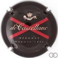 Champagne capsule A1.c Noir, or et rouge