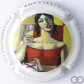 Champagne capsule 88.h 7ème série, fond blanc