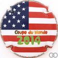 Champagne capsule 51.c Drapeau Etats-Unis
