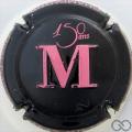 Champagne capsule 54.b Noir et rose