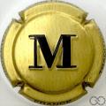 Champagne capsule 48.g Or, M noir, sans cercle