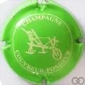 Champagne capsule  Vert fluo et crème, striée