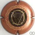 Champagne capsule 15 Marron, contour cuivre