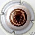 Champagne capsule 13 Marron, contour argent, lettres or