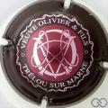 Champagne capsule 12 Rose foncé, contour marron