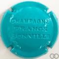 Champagne capsule 24.f Estampée bleu turquoise